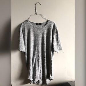 Gray over size shirt